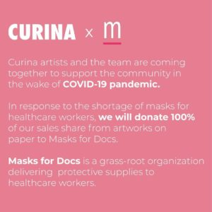 Curina's support of artists during COVID