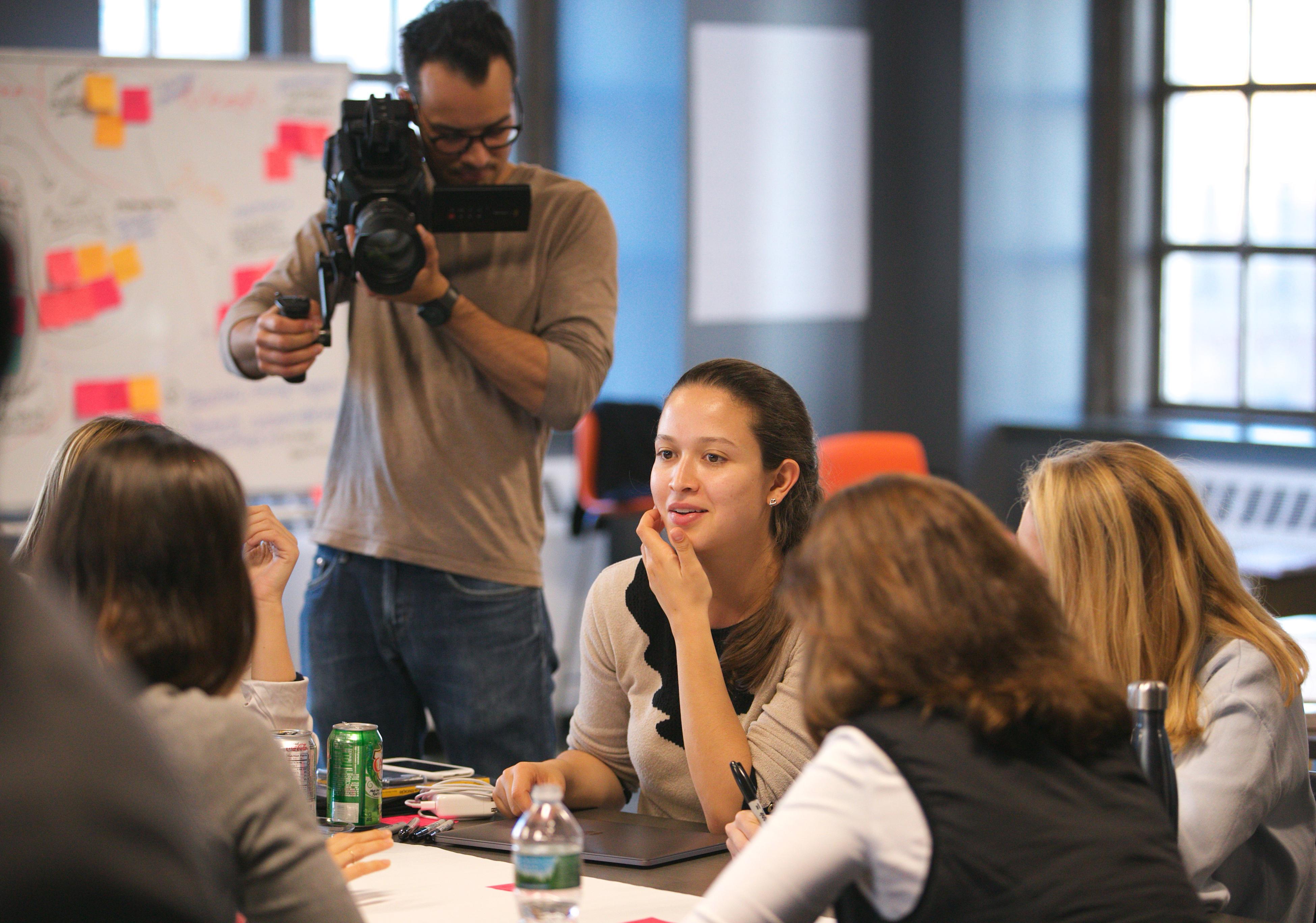 Cameraman films progress in the EdTech Design Challenge
